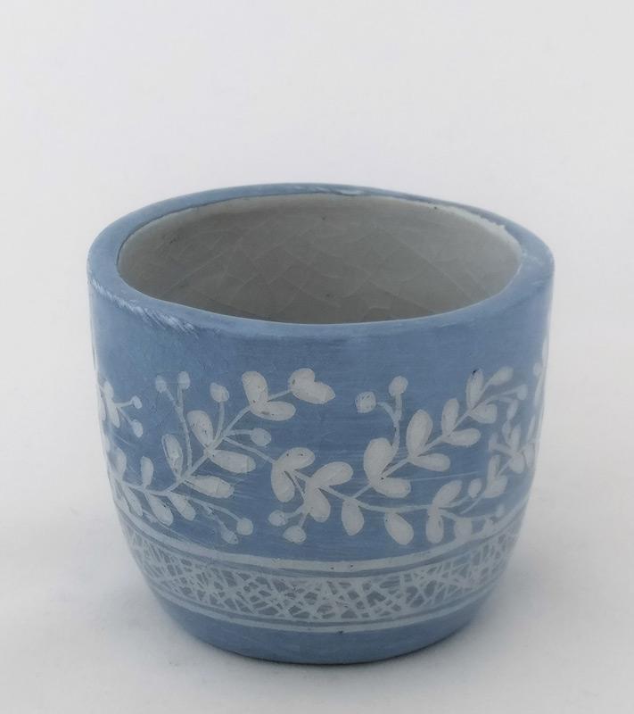 bicchiere in ceramica per candela