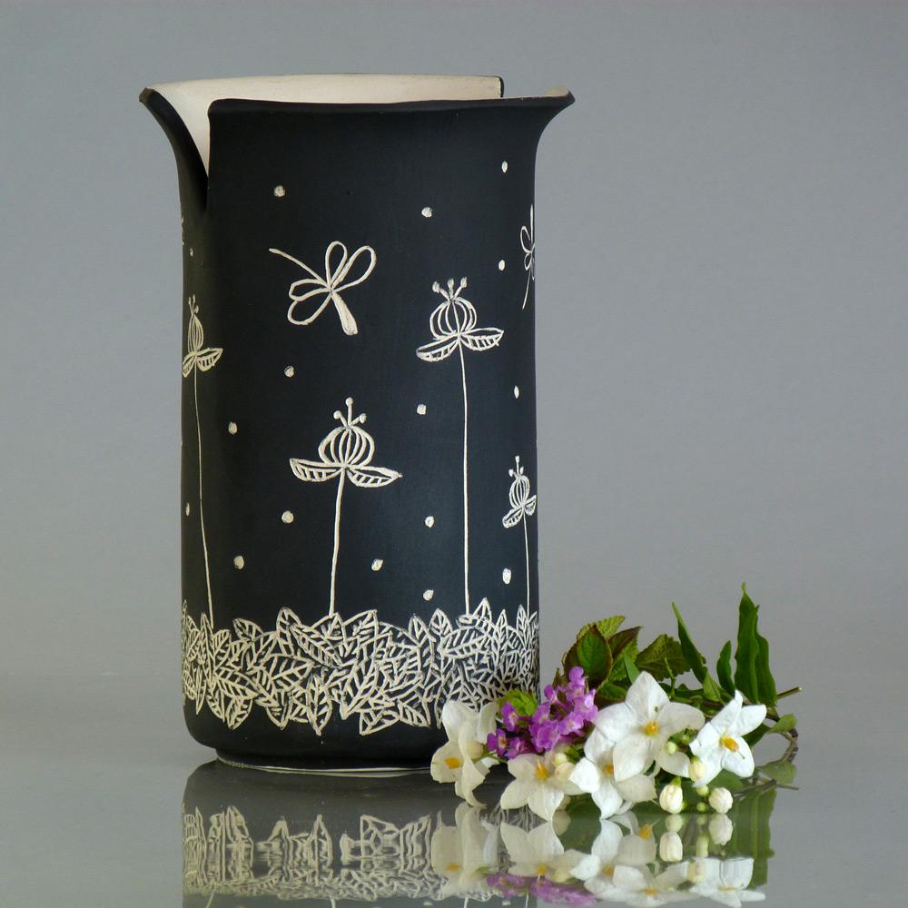 vaso in ceramica design moderno artigianale
