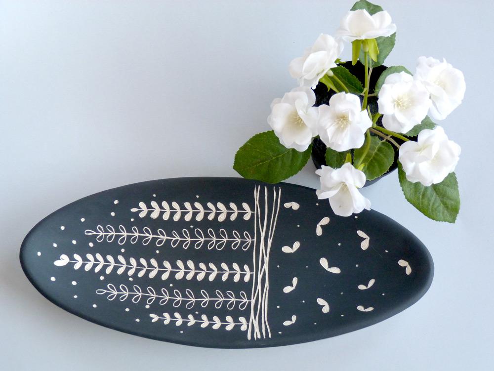 piatto in ceramica artigianale ovale
