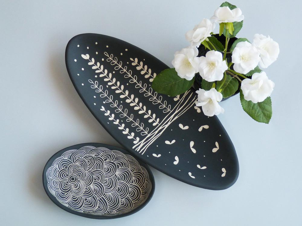 piatto in ceramica artigianale tipo vassoio