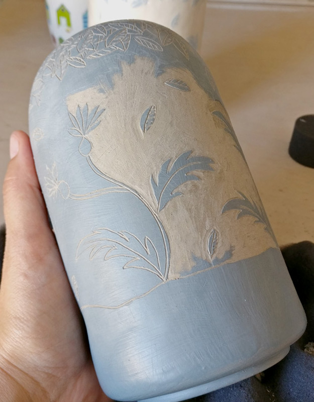 ceramica artigianale tecnica sgraffito
