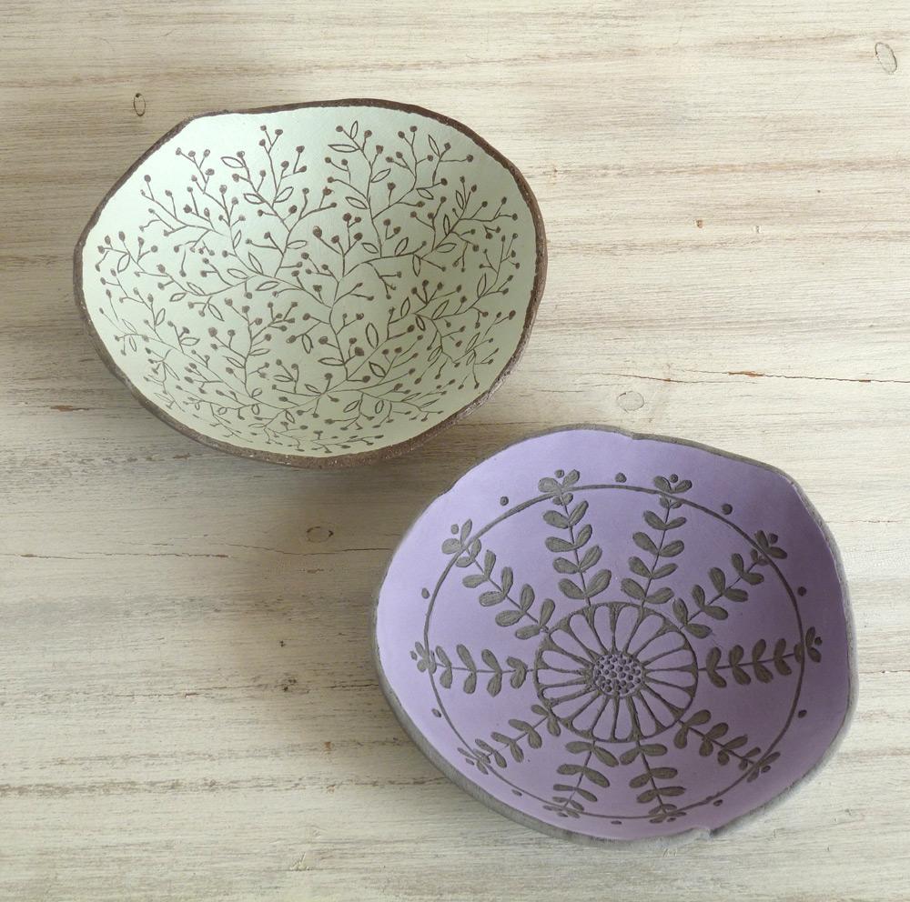 ciotole ceramica artigianale da 15 cm fantasie a colori