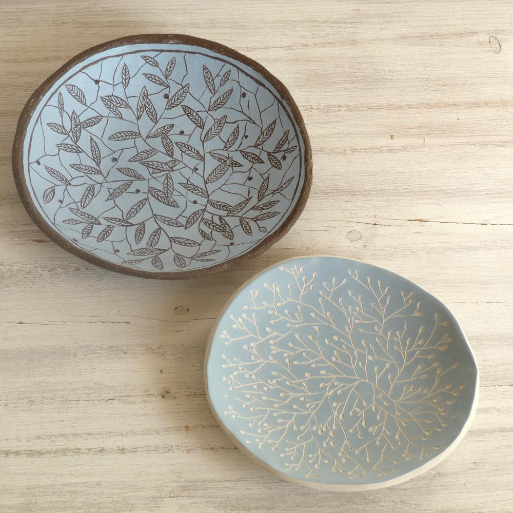 piatto ceramica artigianale da 15 cm fantasie a colori