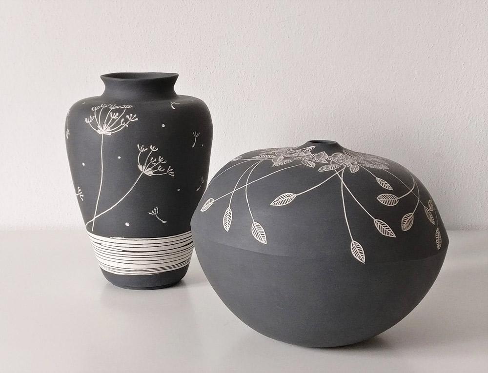 vasi-in-ceramica-bianco-e-nero