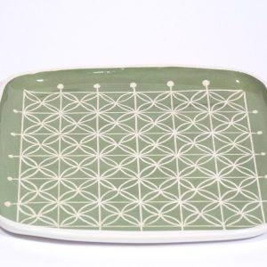 piatto quadrato verde