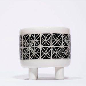 barattolo con piedini in ceramica