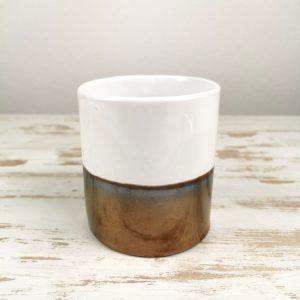 Bicchiere in ceramica bicolore